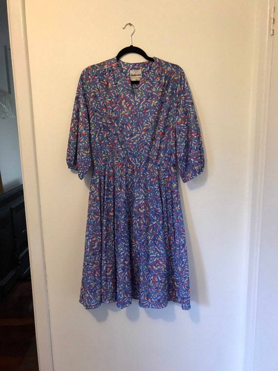 Gallivant Abstract print 70s dress