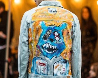 HYPE Wear Hand Painted Denim Jacket