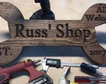 Garage Custom Name Sign- Shop Name- Your Name-Logo----
