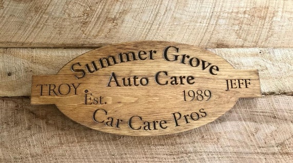 7c46119ae1766 Garage Sign - Custom shop Sign, Personalized garage,Dads garage shop Sign,  Buisiness Shop Man Cave Gifts CNC