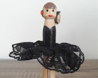 Classic Ballerina Clothespin Doll