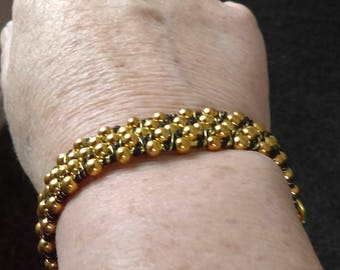 Seed Bead Bangle style bracelet