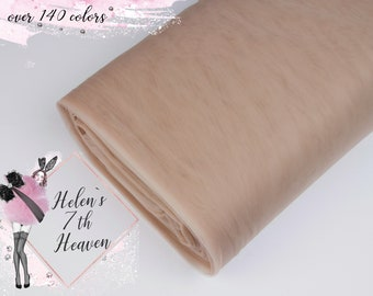 NUDE Tulle Bolt #147 Mocca Fabric Sheer Lingerie Mesh Tulle CAPPUCINO Net Beige Tulle Fabric by the Bolt Light Brown Tulle Roll Wholesale
