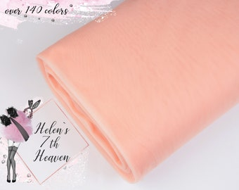93657af9fc LIGHT PEACH Tulle Fabric #110, Soft Tulle Roll, 3m/118