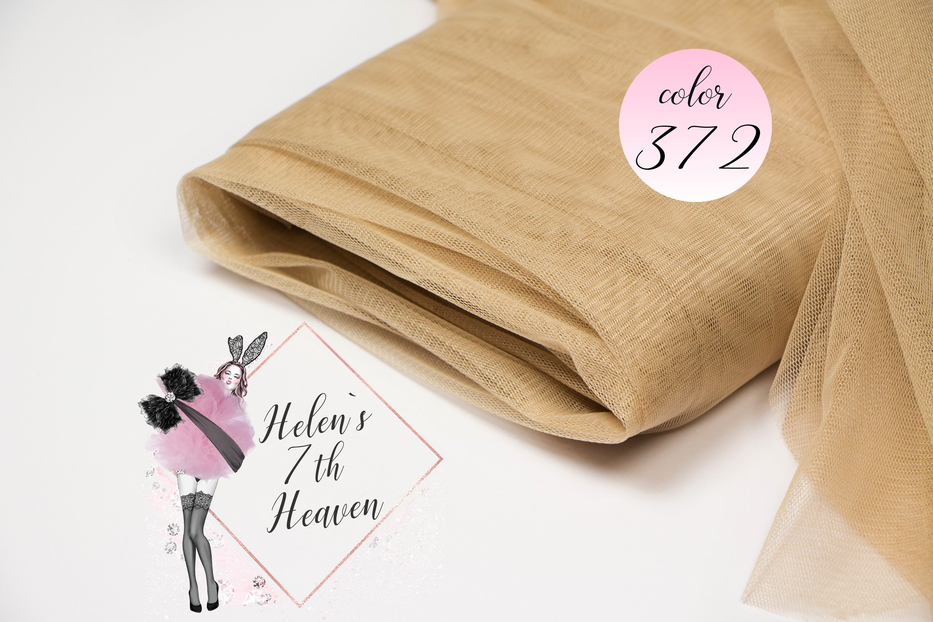Nude Mesh by the Meter 372 Light Skin Power Mesh by the   Etsy