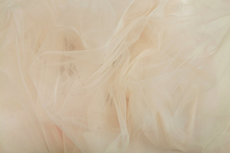 Nude Skirt Stunning 3m118 Wide Nude Tulle Fabric by the Roll Bridal Gown Bridesmaid Dress SAND IVORY ANTIQUE Wholesale Tulle Bolt #141
