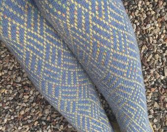 Wool leg warmers Knitted blue yellow boot leg warmers Womens legwarmers  Wool ladies leg warmers Handmade leg warmers Ladies Leg Warmers