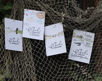 "Postcard series ""For fish ..."""