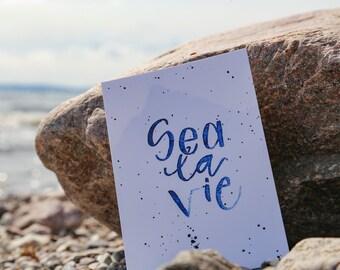 Postcard »Sea la Vie«