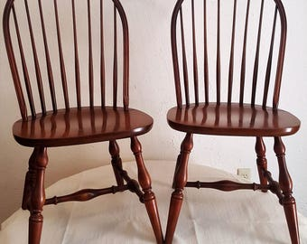 Quick View. HITCHCOCK Pair Of Bow Back Windor Side Chairs