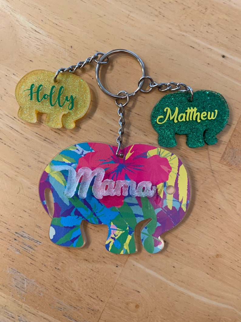 Mama and Baby Personalized Keychains