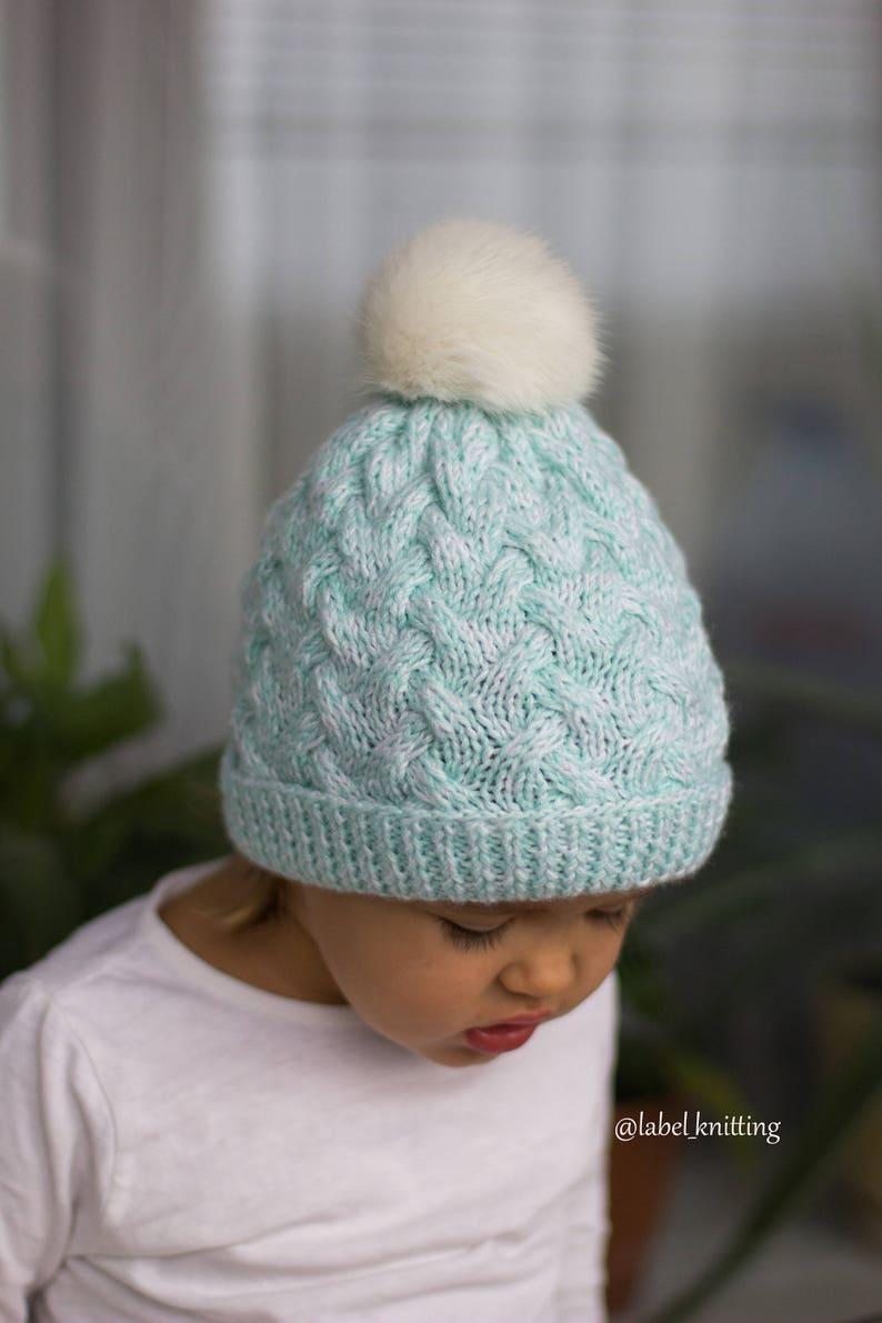 54709407d72 Knit hat Baby hat Toddler Girl Knit Toddler Boy Knit Wool hat