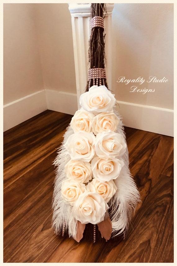 Wedding Broom Wedding Tradition Of Jumping The Broom Etsy