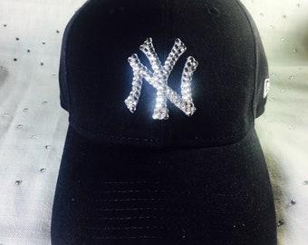 899f52a204c Women s NewSwarovski Bling New York Yankees Hat