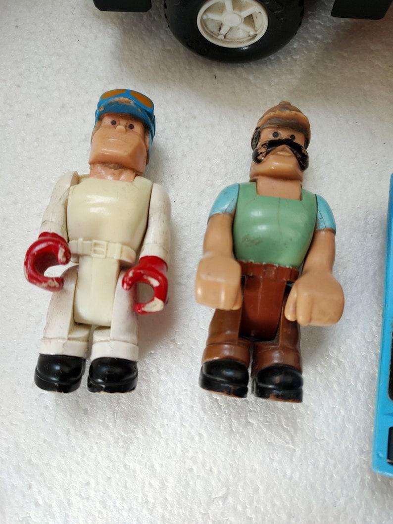 1978 Vintage Fisher Price Husky Helpers Race Car Rig 320