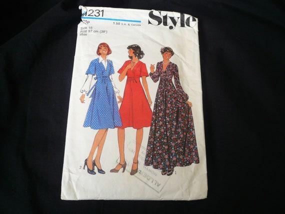 Vintage Stil Schnittmuster 1231 hohe Linie V Hals | Etsy