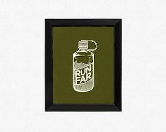 Run Far Print 5x7
