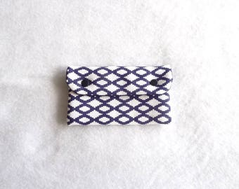 Troy blue ikat pattern quilted glasses case