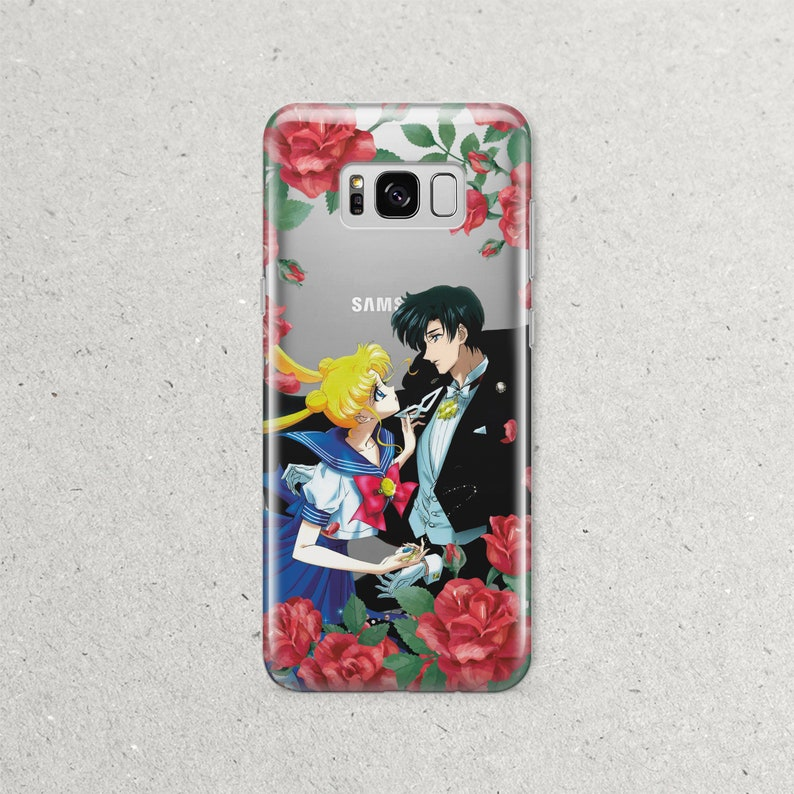 online store 84b8c 358b2 Sailor Moon Tuxedo Mask Samsung Phone Case Samsung S10 S10e S9 S8 Plus  Galaxy S7 S6 Edge Plus Note 9 8 Anime Gift for Girls Silicone Cover