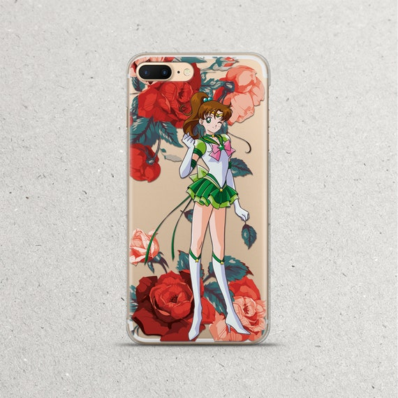 Sailor Moon Jupiter Phone Case for LG G5 G6 Google Pixel 3 3a XL 2XL 3XL 2 XL Floral Anime Manga Pink Flowers for Women Girls Gifts Silicone TPU Clear Cover