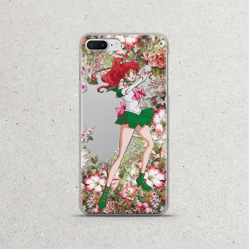 check out 5c53f f4744 Sailor Moon Jupiter Anime Phone Case Floral Flower for iPhone X Xs Max Xr 8  7 6s 6 plus Case Gift iPhone 5 5s 5se se 5c 4s Silicone Cover