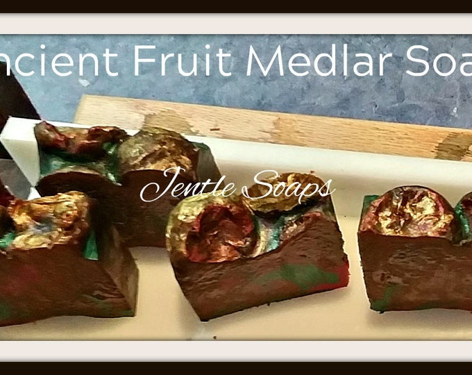 Hand Painted Ancient Fruit Artisan Soap Bar Jentle Soaps Handmade Fresh Facial Soap