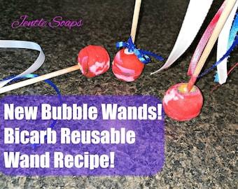 Baking Soda Reusable Bubble Wand Recipe