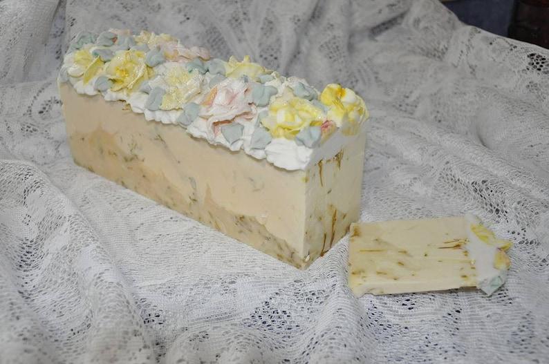 Afton's Sunshine Artisan Floral Soap Cake Slice Cold image 0