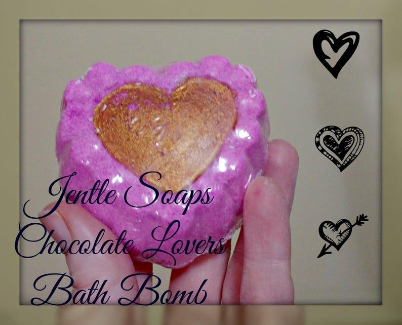 Pink Chocolate Lovers Bath Bomb Fizzer Bubble Bath image 0