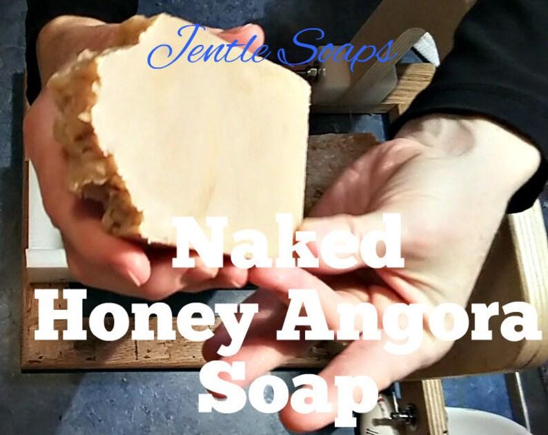 Naked Honey Beeswax Angora Artisan Soap Hot Process Unscented image 0