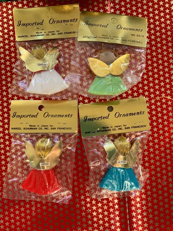 Vintage Wooden Miniature Christmas Ornament Angel in House Marcel Schurman