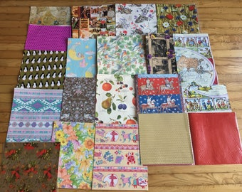 Assorted Vintage Wrapping Paper Pieces