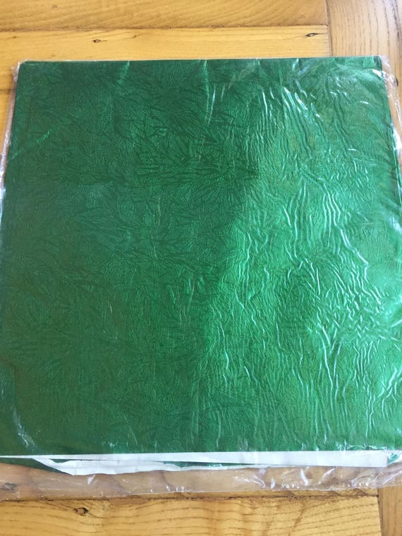 shiny green bamboo like plant textured vintage wrapping paper etsy