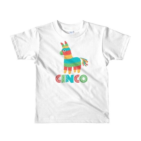 Espagnol des enfants mignon âgé de cinq ans (Cinco) Pinata d'anniversaire Short sleeve t-shirt enfant