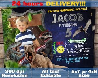 Jurassic World Invitations, Jurassic World Party, Jurassic Park Invitation, Jurassic Park Party, Jurassic World Birthday Invitation