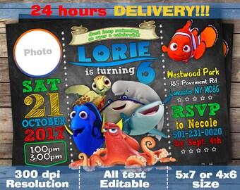 Finding Nemo Invitation Etsy