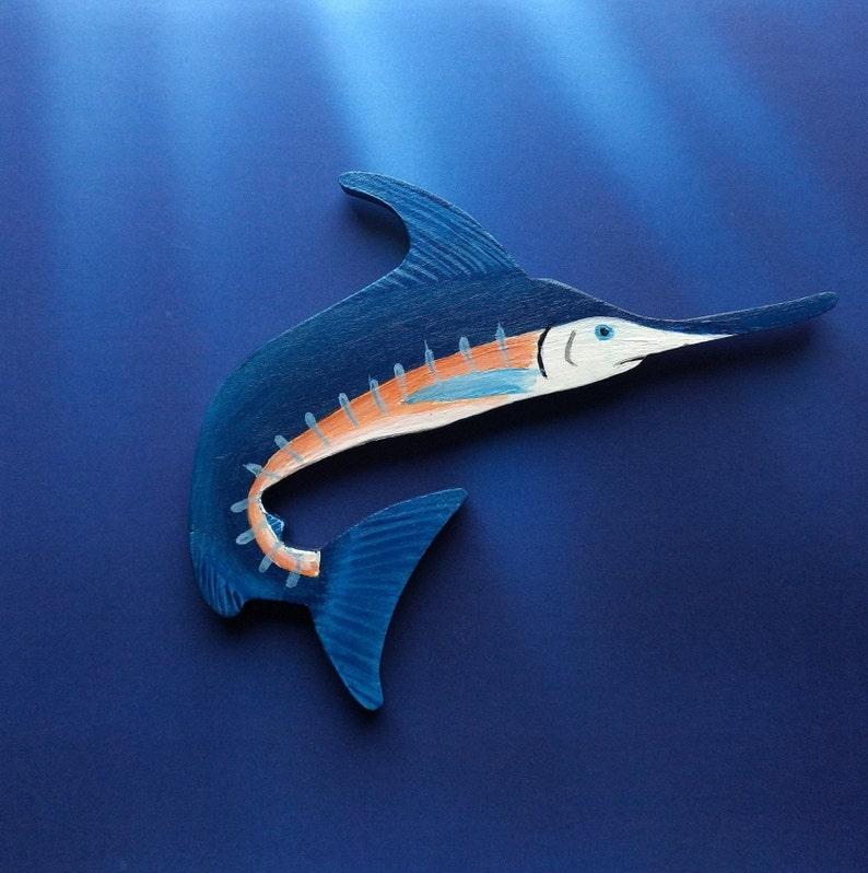 Blue Marlin Magnet  Large Blue Marlin Kitchen Magnet  Gamefish Magnet  Marlin Decor  Blue Marlin Gift  Blue Marlin Magnet  Personalized