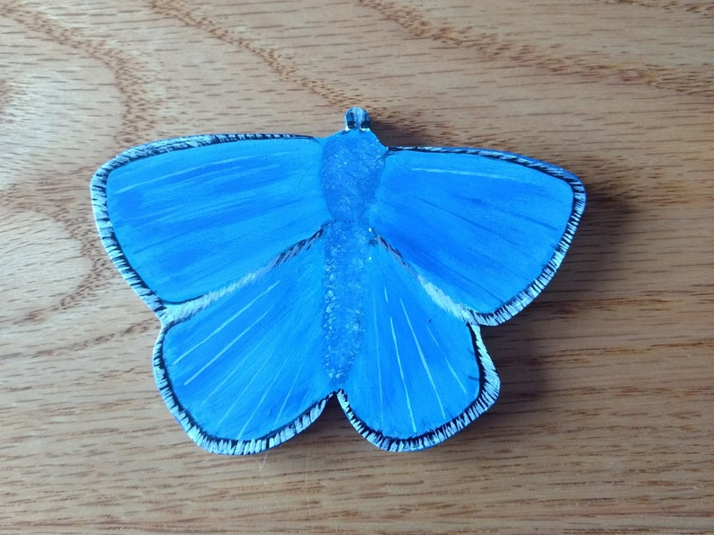 Clearance  Butterfly Magnet  Large Blue Adonis Butterfly Magnet  Wood Blue Adonis Butterfly Magnet  Butterfly Gift  Butterfly Decor