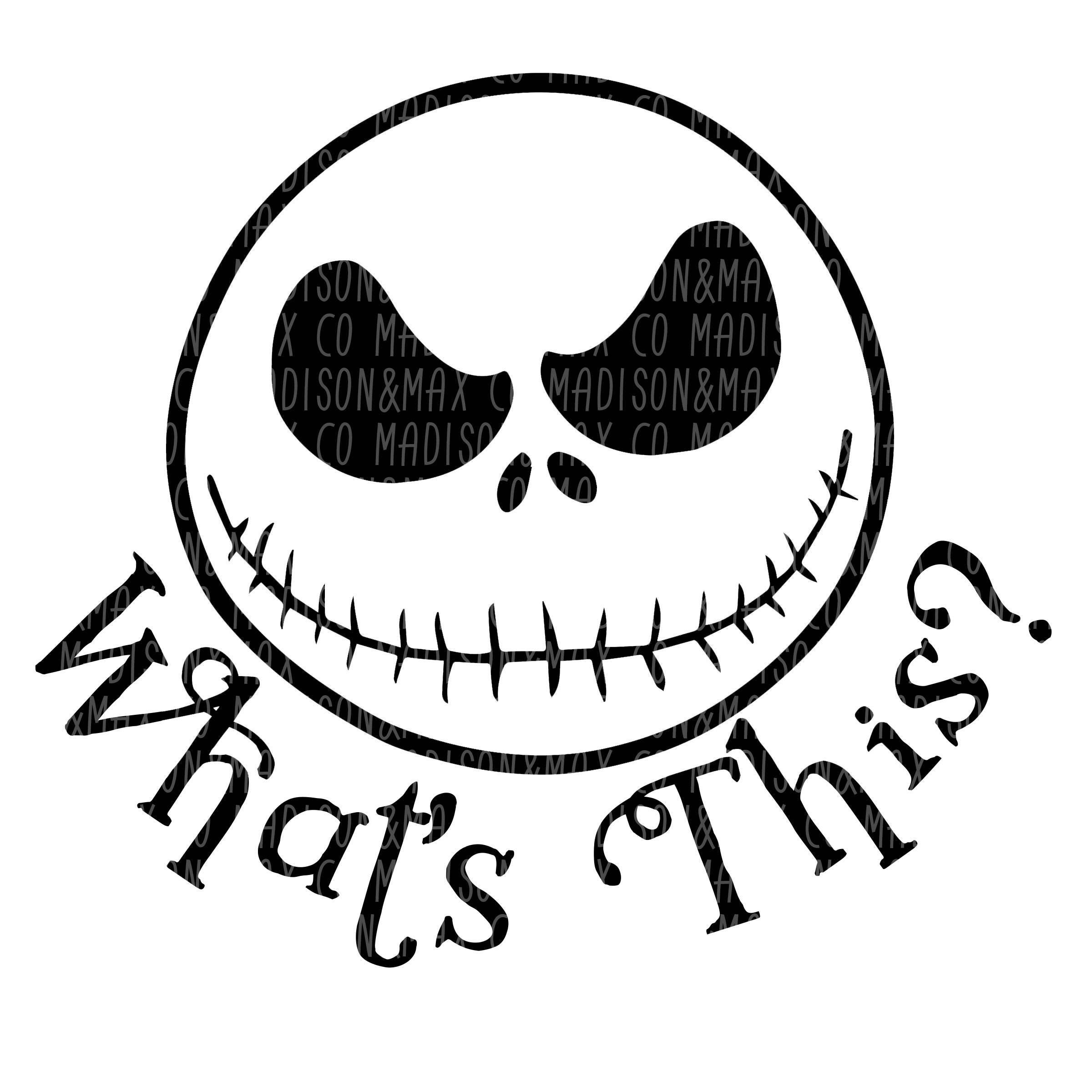 Jack Skellington SVG Nightmare Before Christmas halloween | Etsy