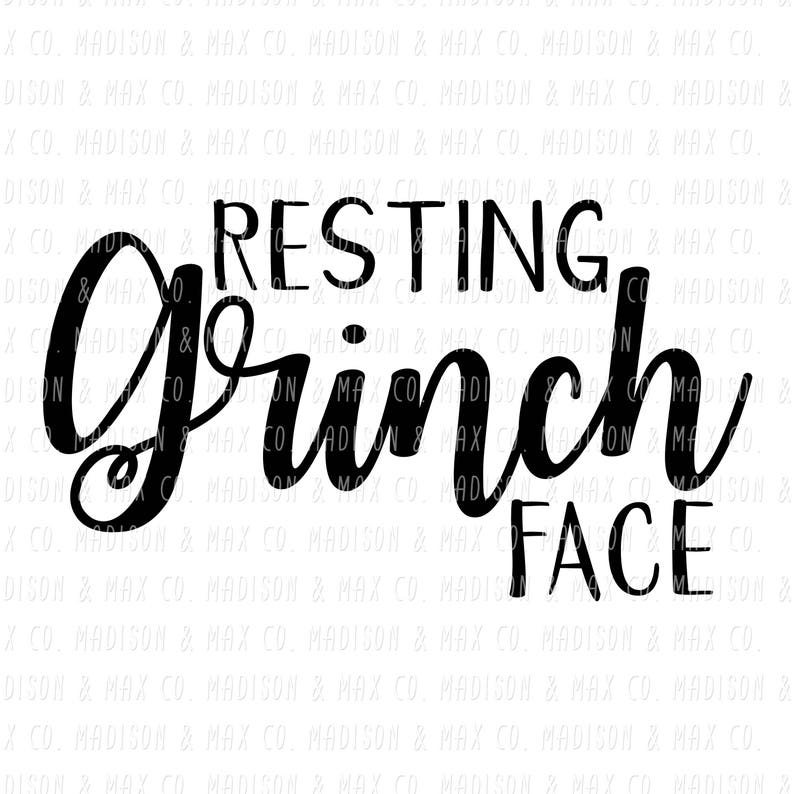 Download Resting Grinch Face SVG DXF Christmas Christmas Decal xmas ...