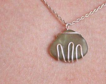 Mountain Seaglass Necklace