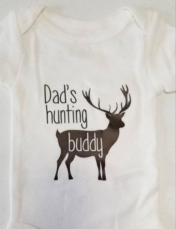 Dad/'s Hunting Buddy Deer Bodysuit