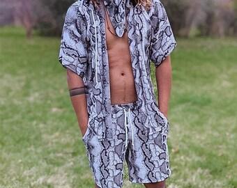 Men/'s Rave Set Rave Kimono Men/'s Kimono /& Short Set Men/'s Kimono