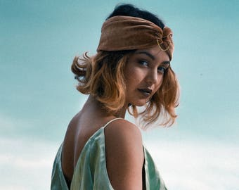 Gold Turban Headband for Women /Gold Hair Accessories / Wide Hair band /Velvet headband women /Velvet turban /Hairband women/Women's gifts
