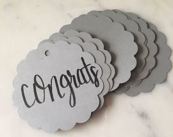 Scalloped Edge Round Gift Tags