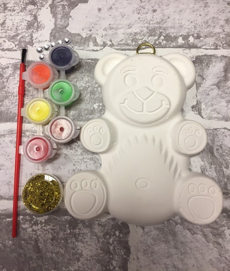 Teddy Bear Craft Kits-Ceramic-Children Party Bag Favours / image 0