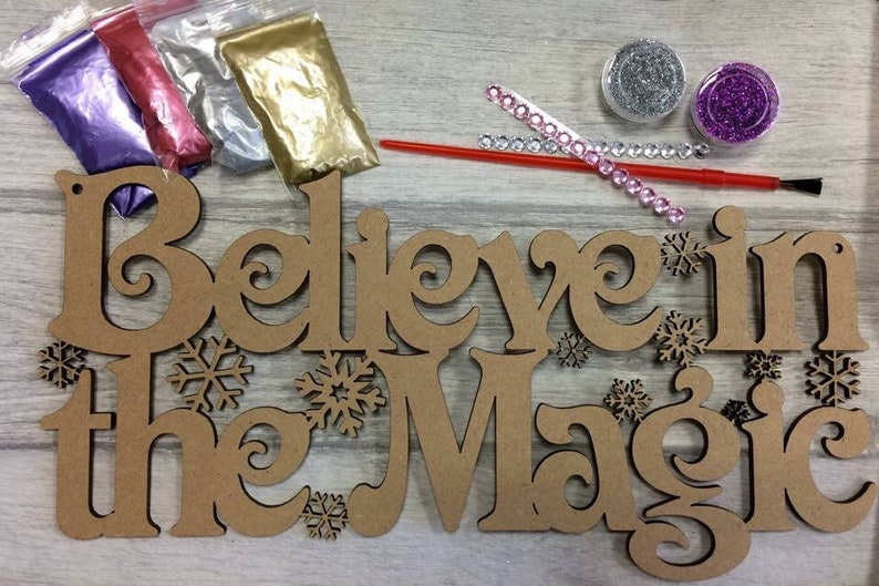 Decorate a Phrase Kit-Childrens Craft Kit-Adult Craft image 0