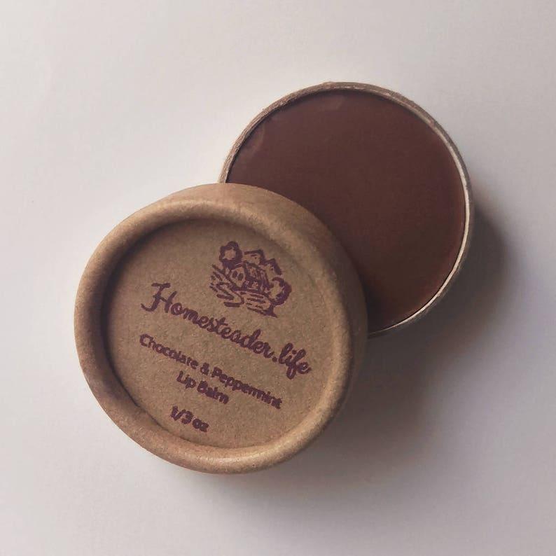 Lip Balm: Chocolate and Peppermint 1/3 oz Jar image 0