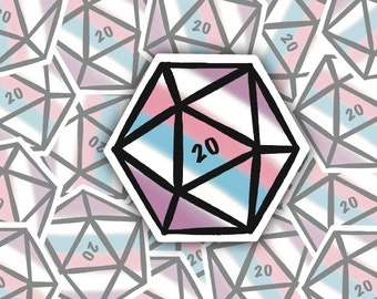LGBT+ Crit 20 Weatherproof Vinyl Decal Intergender Pride