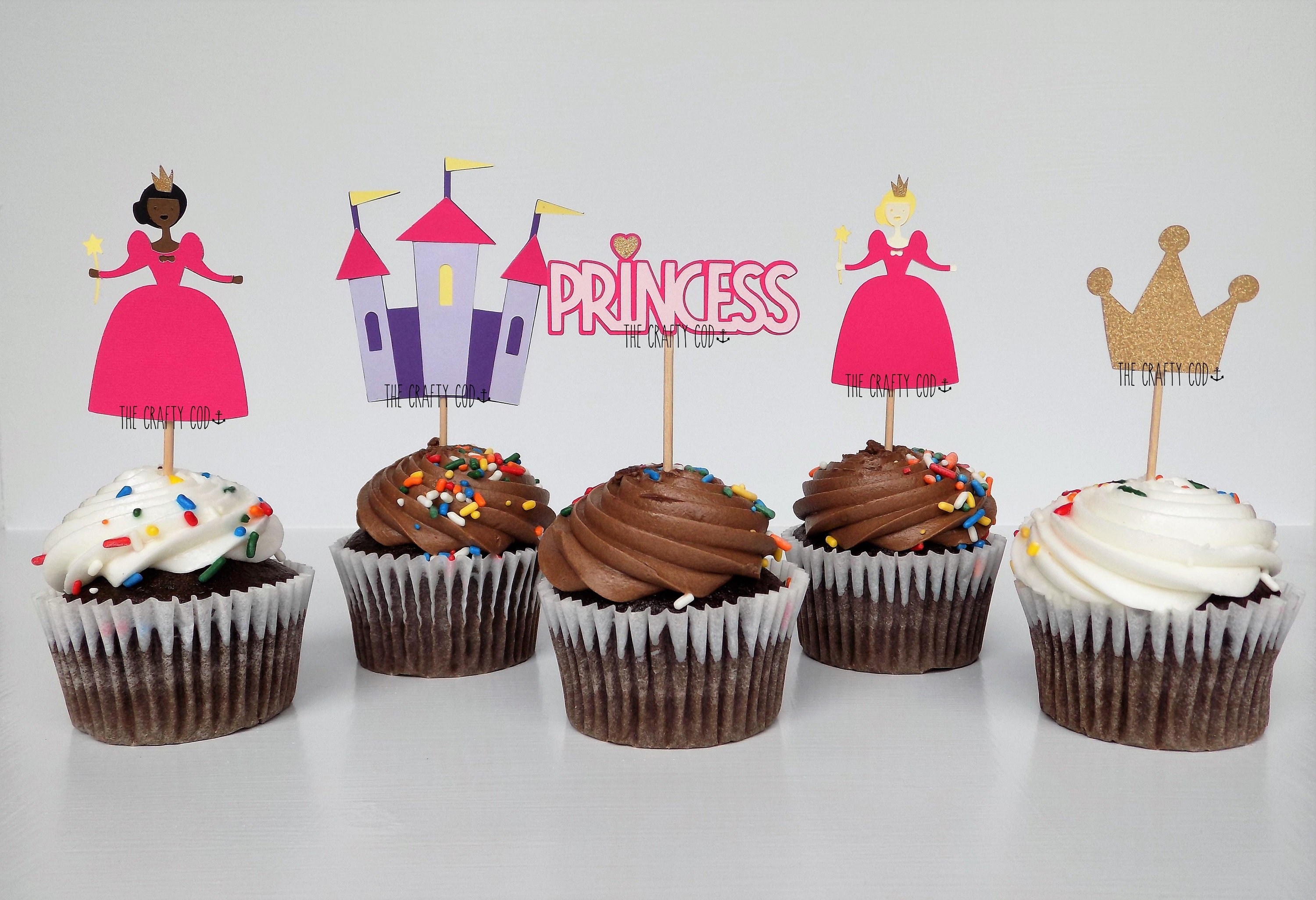 Princess Cupcake Food Toppers Sets Of 12 Birthday
